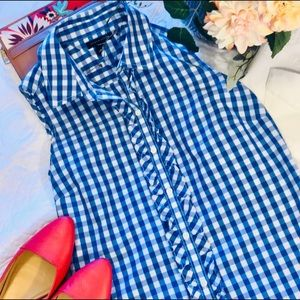 TOMMY HILFIGER gingham ruffled shirt